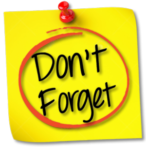Image result for dont forget png